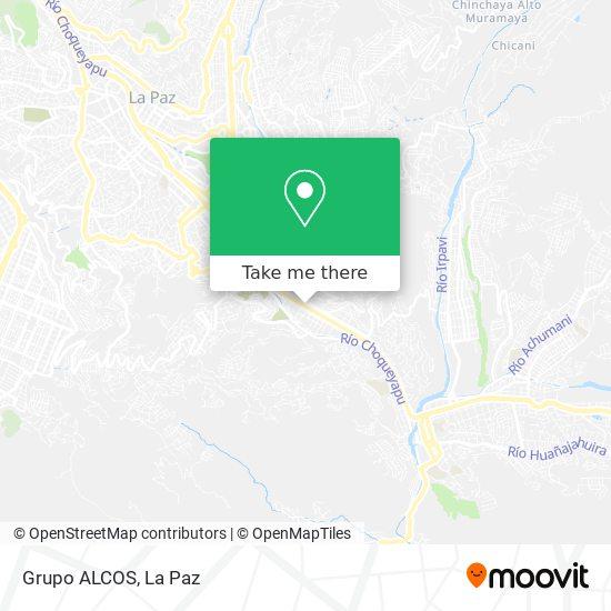 Grupo ALCOS map