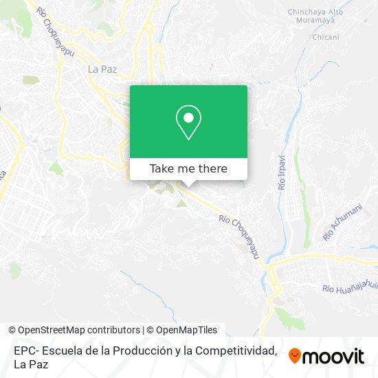EPC- Escuela de la Producción y la Competitividad map