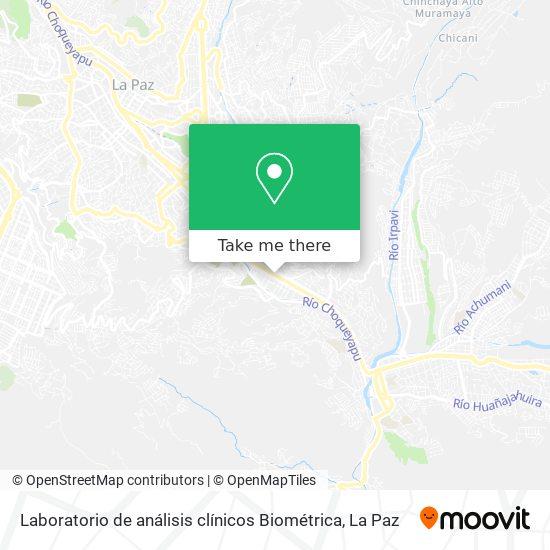 Laboratorio de análisis clínicos Biométrica map
