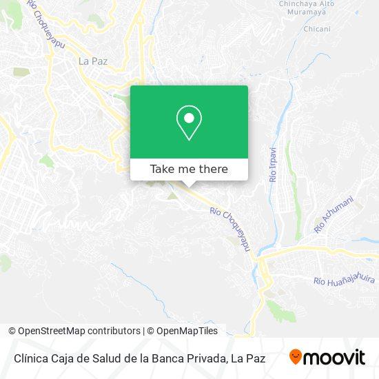Clínica Caja de Salud de la Banca Privada map