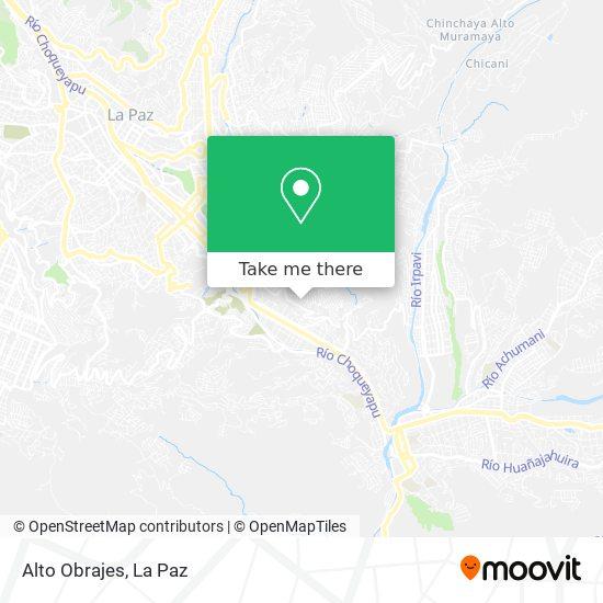 Alto Obrajes map