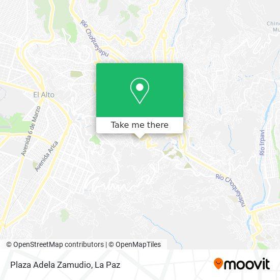 Plaza Adela Zamudio map