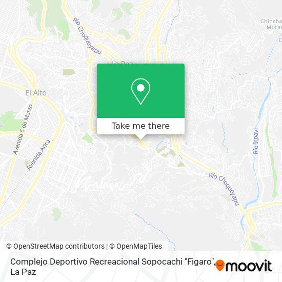 """Complejo Deportivo Recreacional Sopocachi """"Figaro"""" map"""