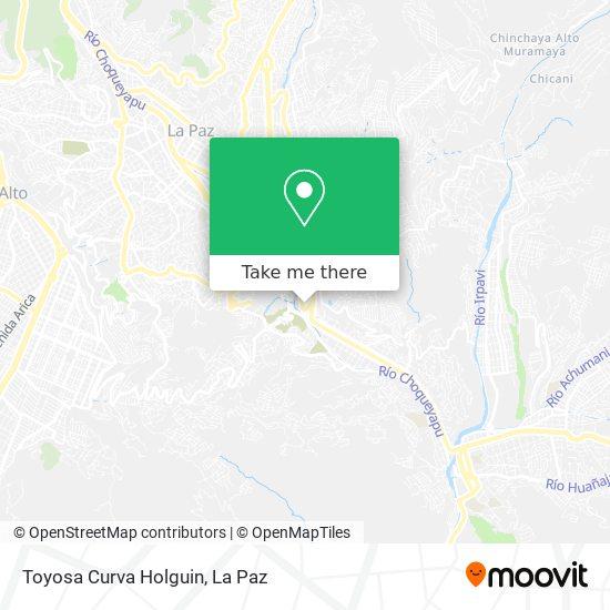 Toyosa Curva Holguin map