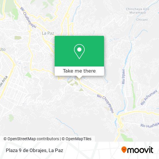 Plaza 9 de Obrajes map