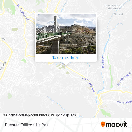 Puentes Trillizos map