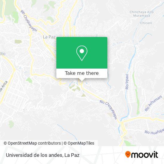 Universidad de los andes map