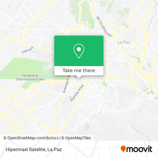 Hipermaxi Satelite map