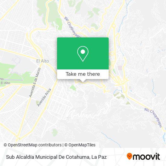 Sub Alcaldía Municipal De Cotahuma map