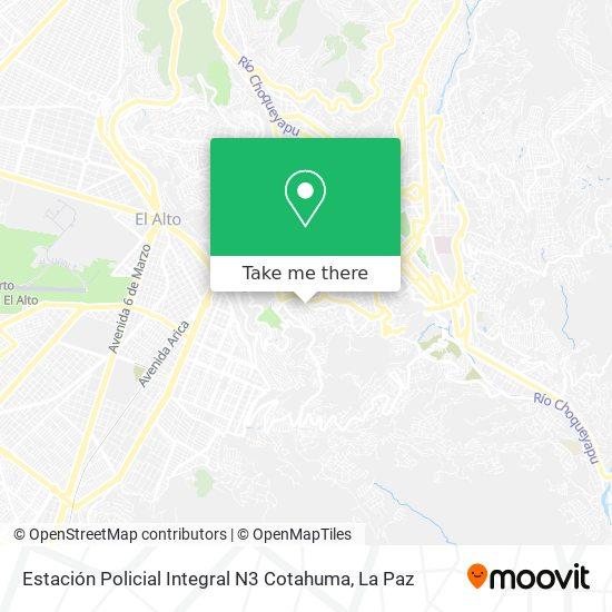 Estación Policial Integral N3 Cotahuma map