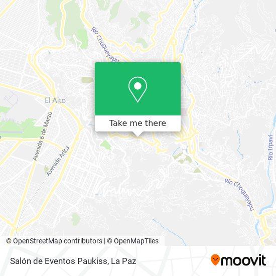 Salón de Eventos Paukiss map