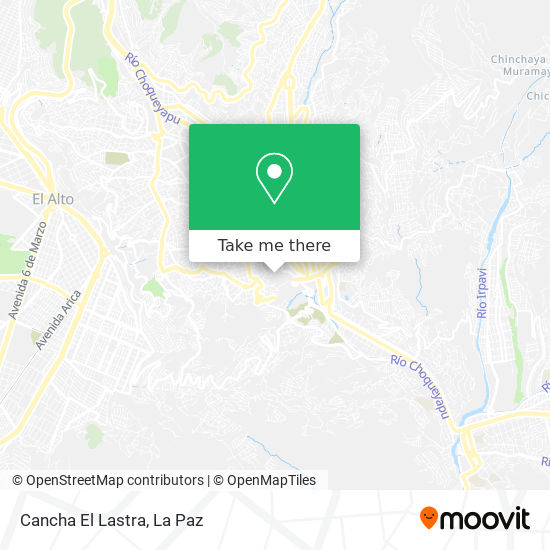 Cancha El Lastra map