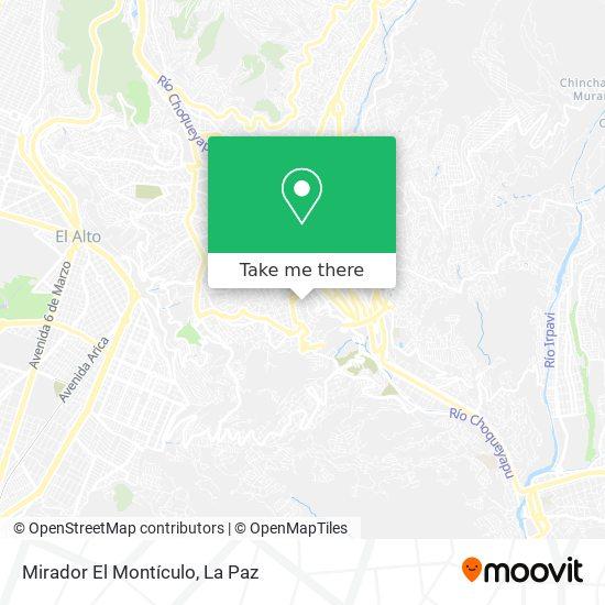 Mirador El Montículo map