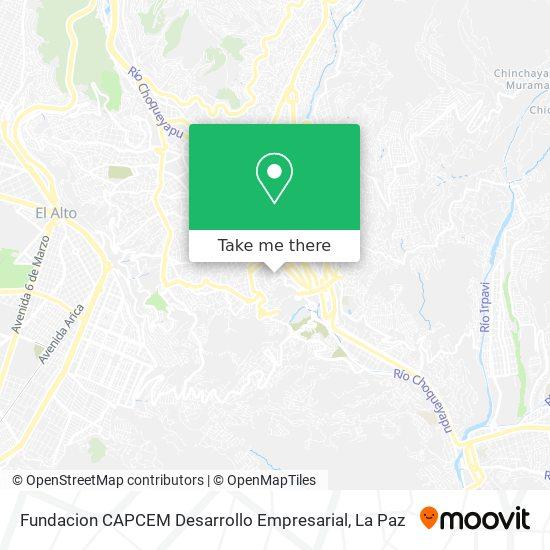 Fundacion CAPCEM Desarrollo Empresarial map