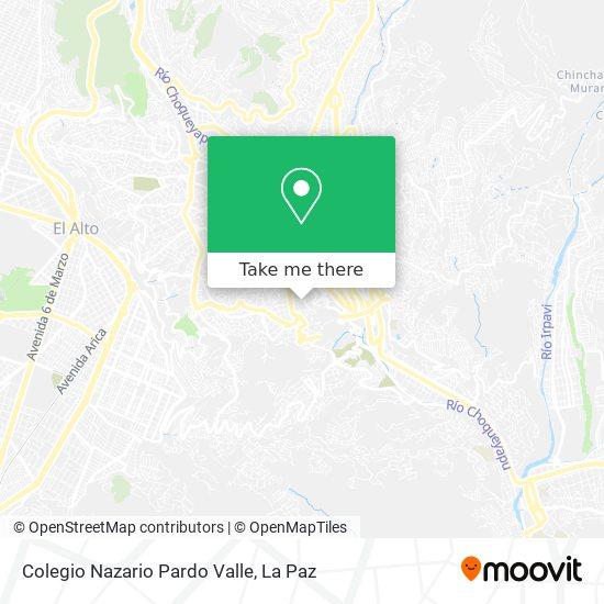 Colegio Nazario Pardo Valle map