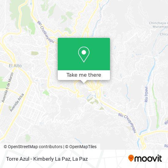 Torre Azul - Kimberly La Paz map