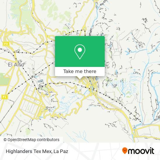 Highlanders Tex Mex map