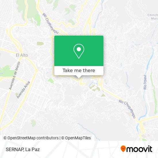 SERNAP map
