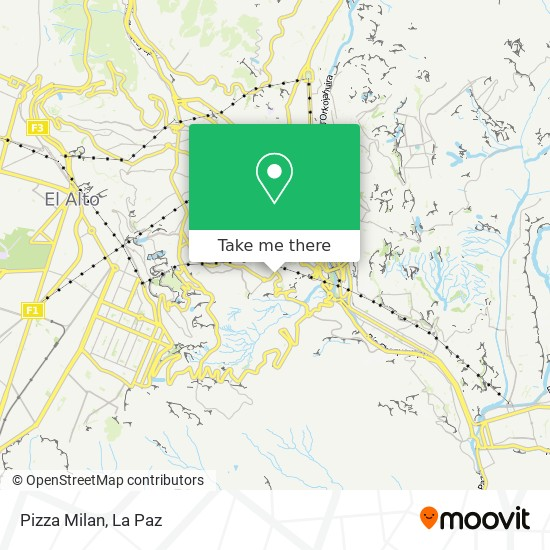 Pizza Milan map