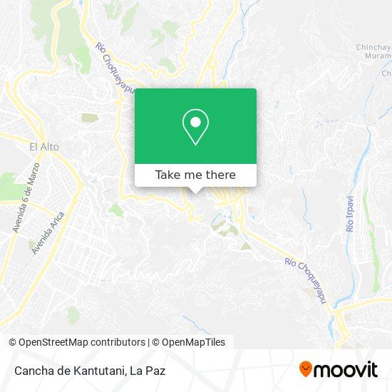 Cancha de Kantutani map