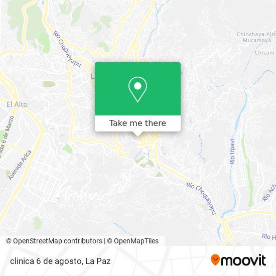 clinica 6 de agosto map