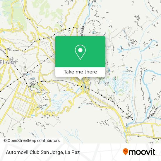 Automovil Club San Jorge map
