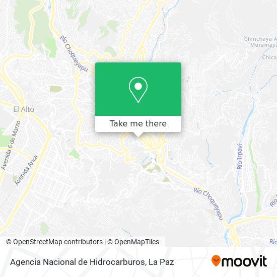 Agencia Nacional de Hidrocarburos map