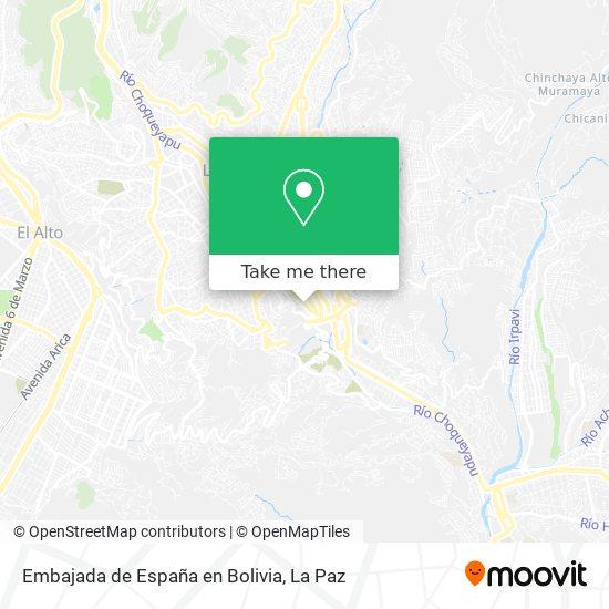 Embajada de España en Bolivia map