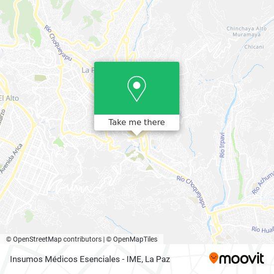 Insumos Médicos Esenciales - IME map