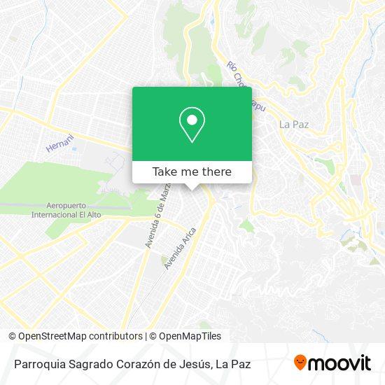 Parroquia Sagrado Corazón de Jesús map