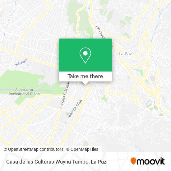 Casa de las Culturas Wayna Tambo map