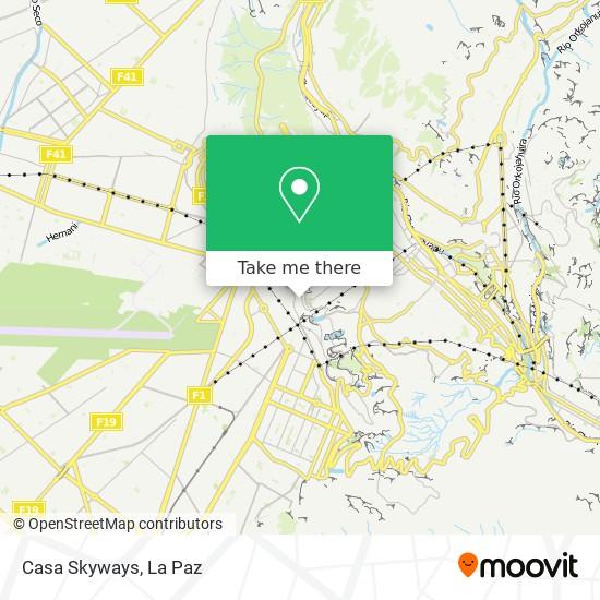 Casa Skyways map