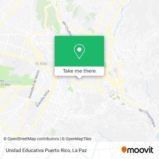 Unidad Educativa Puerto Rico map