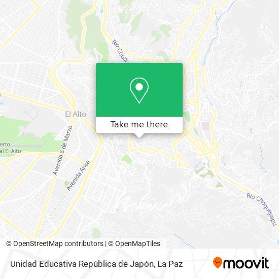 Unidad Educativa República de Japón map