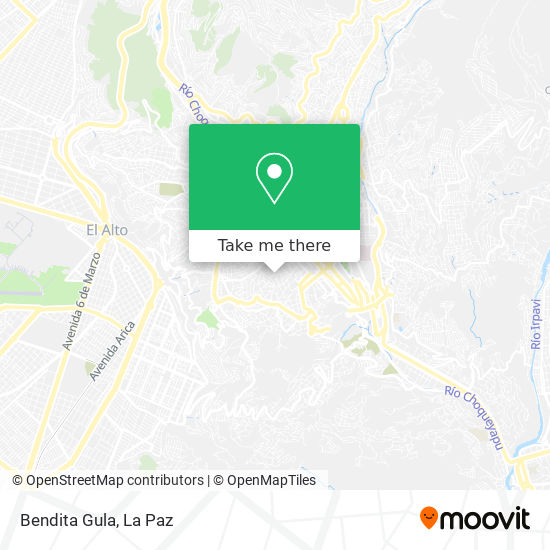 Bendita Gula map