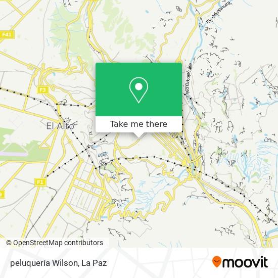 peluquería Wilson map