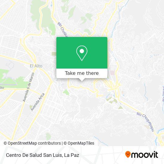 Centro De Salud San Luis map