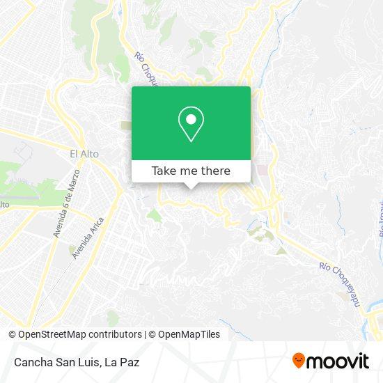 Cancha San Luis map