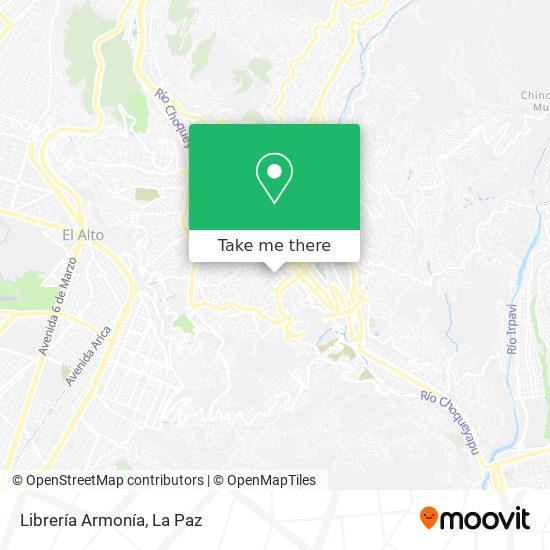 Librería Armonía map