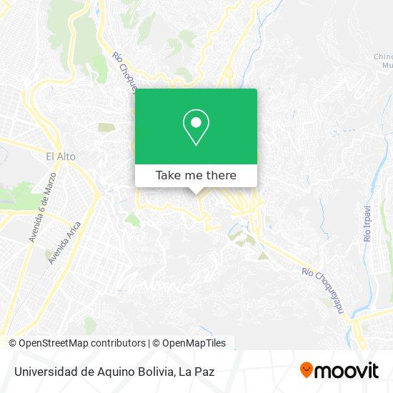 Universidad de Aquino Bolivia map