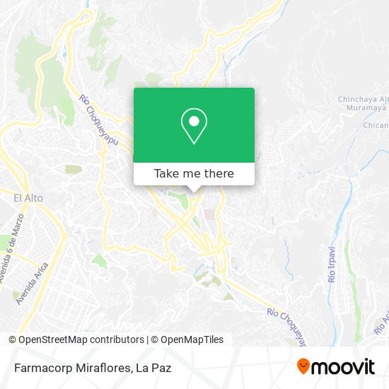 Farmacorp Miraflores map