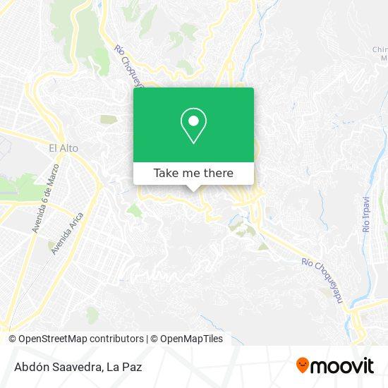 Abdón Saavedra map