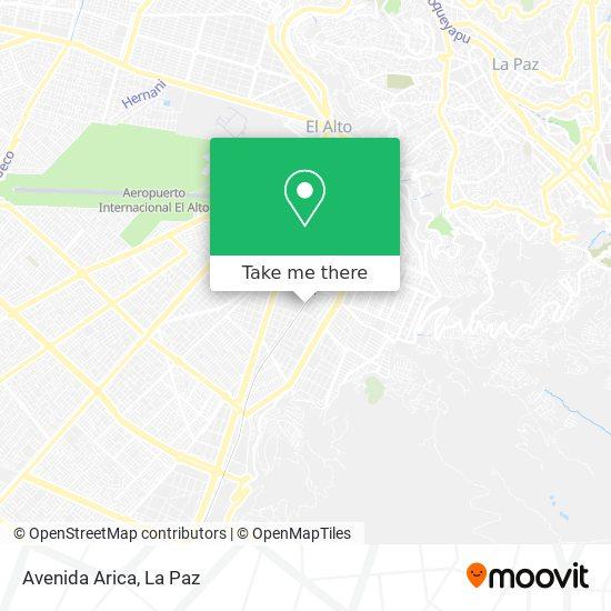 Avenida Arica map