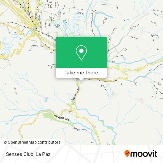 Senses Club map