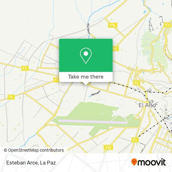 Esteban Arce map