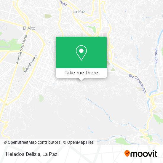Helados Delizia map