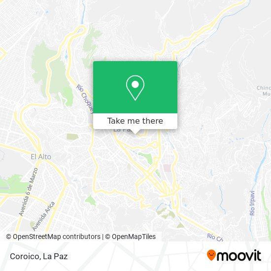 Coroico map