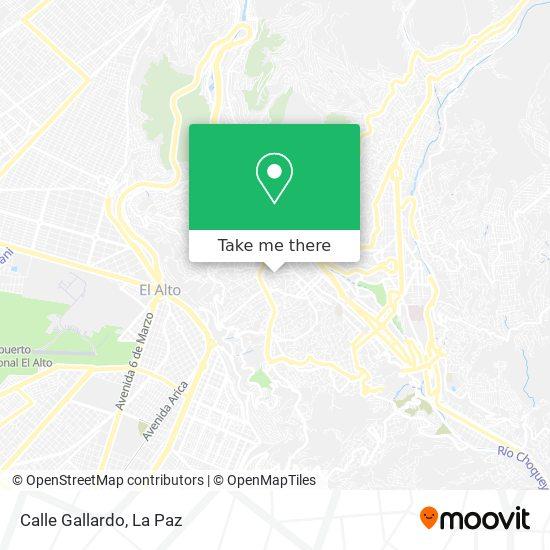 Calle Gallardo map