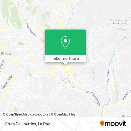 Gruta De Lourdes map