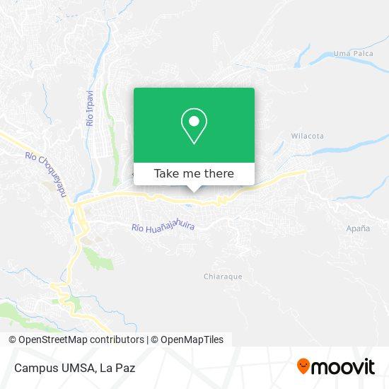 Campus UMSA map